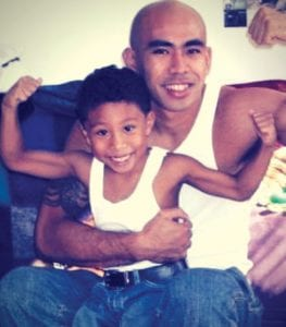 Chris and his son Jube